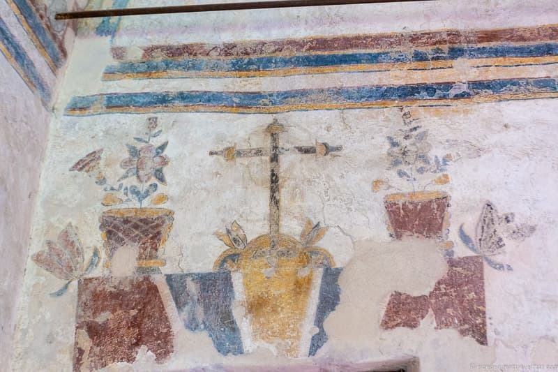Mission Concepción fresco A guide to visiting The Alamo in San Antonio Texas San Antonio Missions National Historical Park
