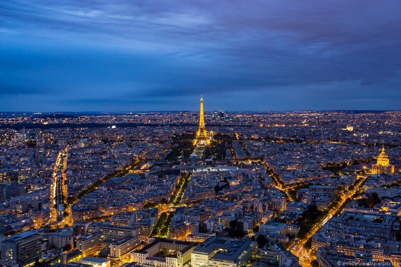 Eiffel Tower from Tour Montparnasse Guide to Visiting the Eiffel Tower in Paris France Eiffel Tower tips