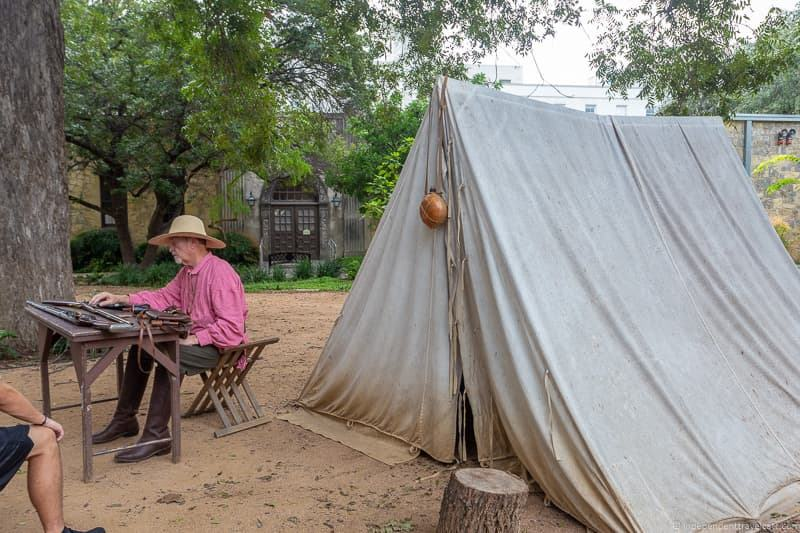 Living History Encampment at The Alamo A guide to visiting The Alamo in San Antonio Texas San Antonio Missions National Historical Park