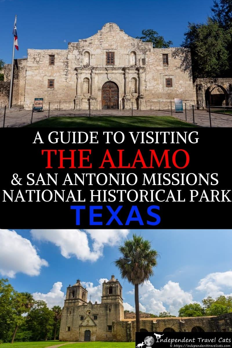 A comprehensive guide to visiting The Alamo in San Antonio as well as the San Antonio Missions National Historical Park. We'll give you a brief history of The Alamo & the Battle of the Alamo as well as loads of practical tips for visiting include fees, parking, and what to see. There are also four other Spanish missions that you can visit in San Antonio that form the San Antonio Missions National Historical Park. #Alamo #TheAlamo #SanAntonio #Texas #travel #SanAntioniomissions #UNESCO