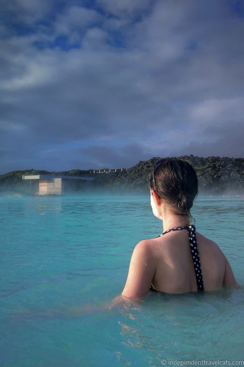 woman at Blue Lagoon comprehensive guide to visiting the Blue Lagoon in Iceland Blue Lagoon tips and advice
