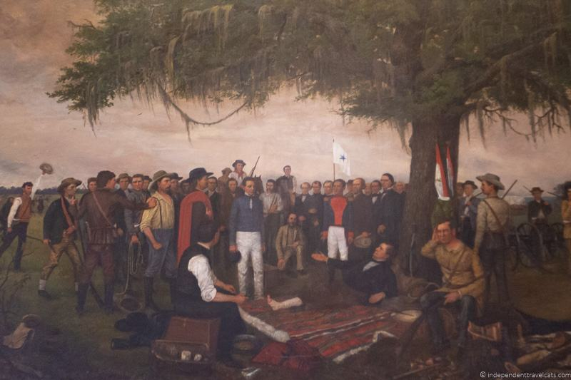Surrender of Santa Anna painting by William Henry Huddle A guide to visiting The Alamo in San Antonio Texas San Antonio Missions National Historical Park