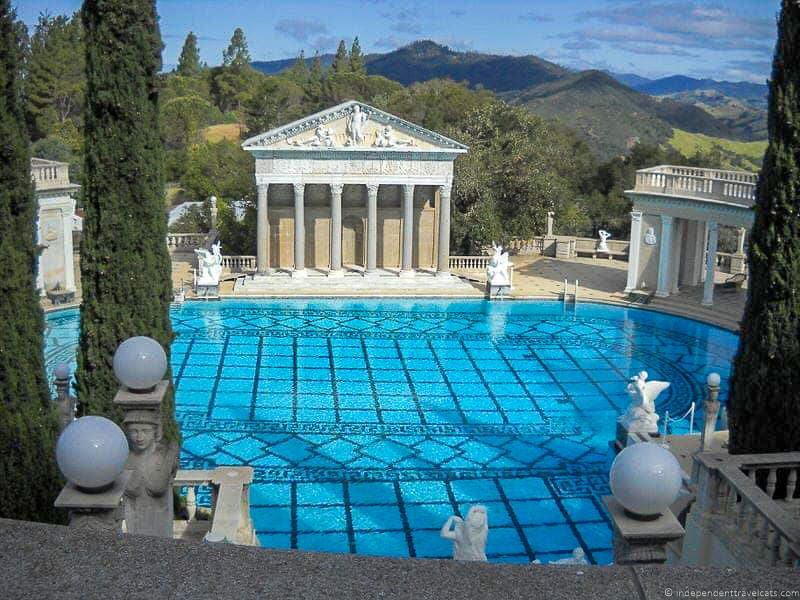 Neptune Pool Hearst Castle San Simeon California Central Coast American Castle William Randolph Hearst home La Cuesta Encantada
