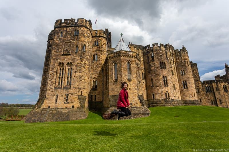 Alnwich Castle broomstick flying Harry Potter filming locations England UK