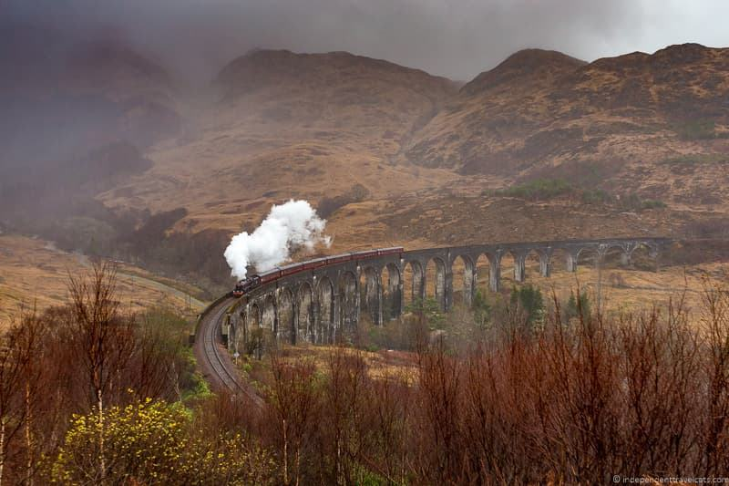 The Jacobite steam train Hogwarts Express Harry Potter train Harry Potter filming locations in Scotland UK