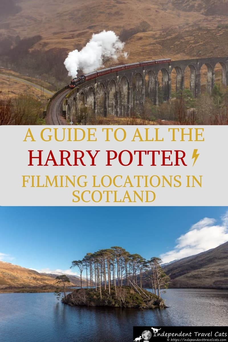 A comprehensive and detailed guide to 12 Harry Potter filming locations in Scotland, including the Hogwarts Express train (The Jacobite), the location of Hagrid's hut (Glencoe), & the location of Dumbledore's grave (Eilean na Moine). We provide a map of each Harry Potter movie location, how to get there, and other relevant information for each film site. #HarryPotter #filmlocations #Scotland #TheJacobite #HarryPotterfilminglocations #HogwartsExpress #HarryPottertrain #travel