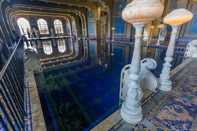 Roman Pool Hearst Castle San Simeon California Central Coast American Castle William Randolph Hearst home La Cuesta Encantada