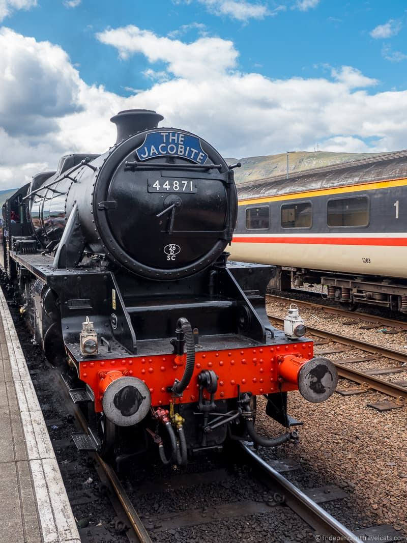 The Jacobite steam train Hogwarts Express Harry Potter filming locations in Scotland UK