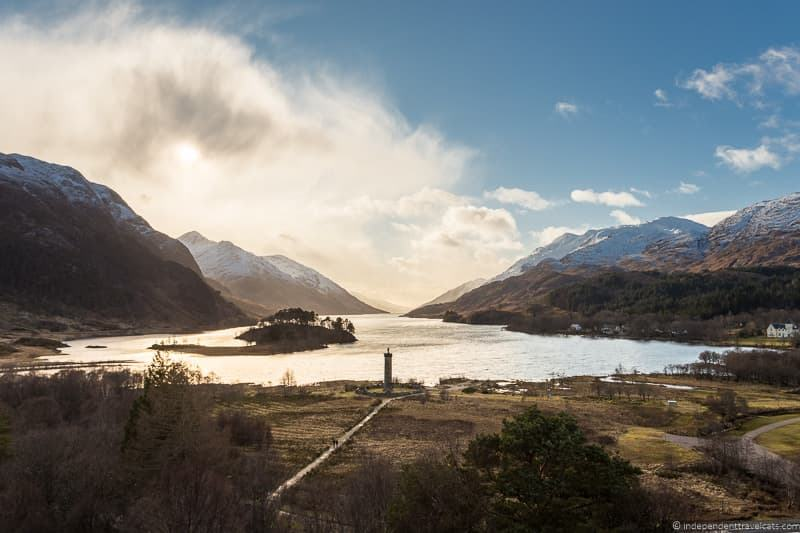 Loch Shiel Glenfinnan Harry Potter filming locations in Scotland UK