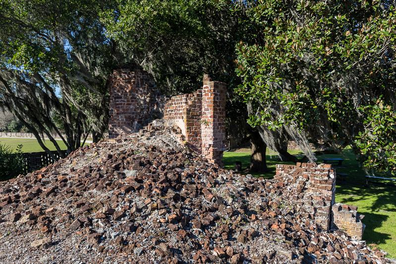 ruins Middleton Place Plantation house Charleston plantations guide South Carolina plantation tours