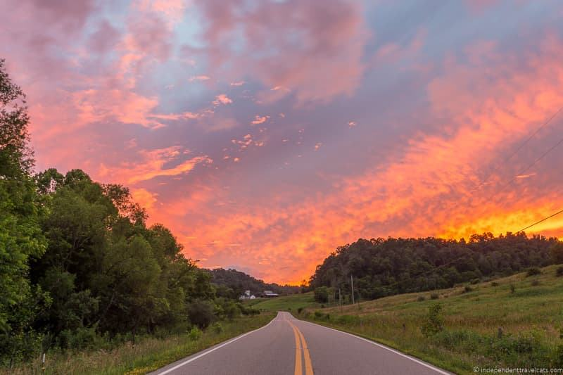 sunset road scenic drive things to do in Caldwell Ohio Noble County Ohio