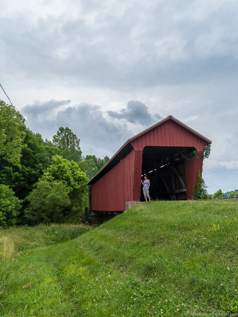 Parrish Covered Bridge Sharon Caldwell Ohio Noble County Ohio