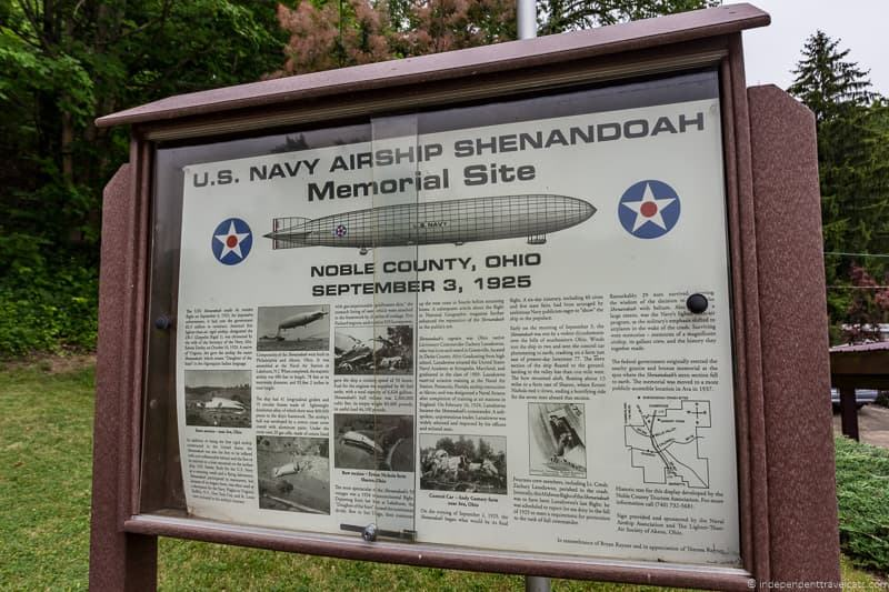 USS Shenandoah Memorial Site historical marker things to do in Caldwell Ohio Noble County Ohio