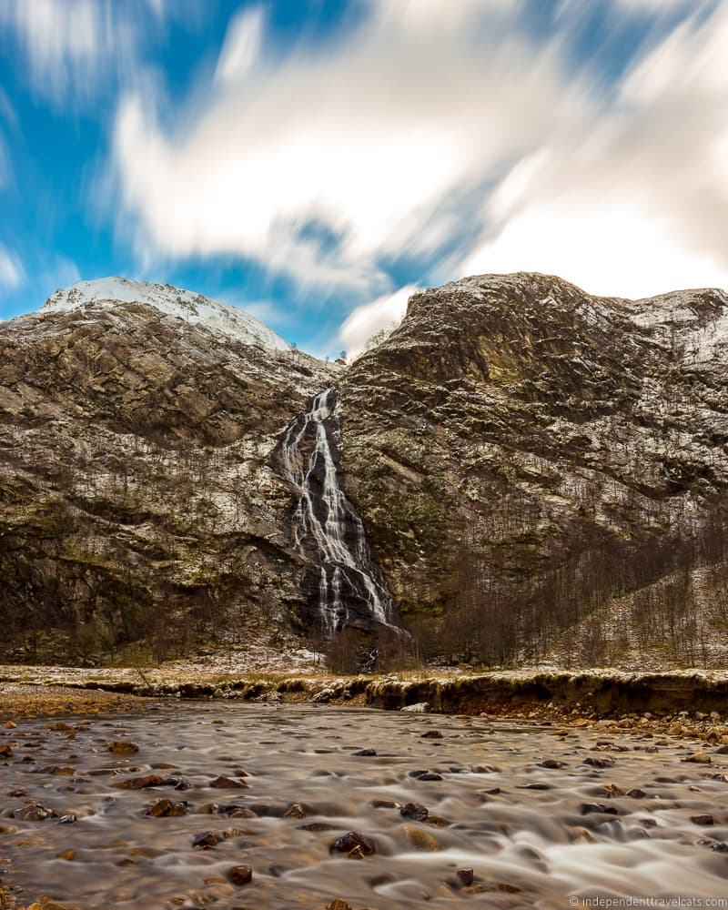 Steall Falls Nevis Gorge Harry Potter filming locations in Scotland UK
