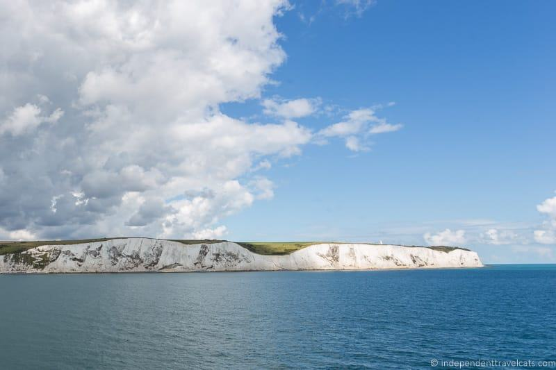 White Cliffs of Dover getting from London to Paris