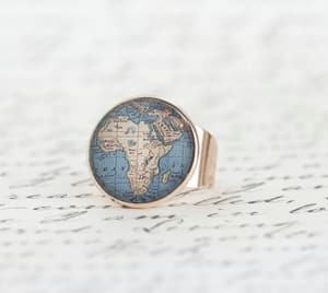 Africa ring travel jewelry jewelry for travelers travel themed jewelry jewellery for travellers