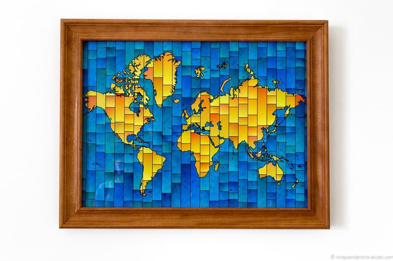 world map wall art framed travel gift guide best gifts for travelers traveler gift ideas