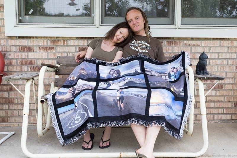 custom photo blanket travel gift guide best gifts for travelers traveler gift ideas