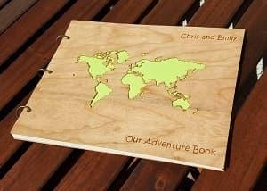 travel themed photo album scrapbook travel gift guide best gifts for travelers traveler gift ideas