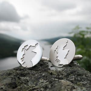 Scotland silver cufflinks travel jewelry jewelry for travelers travel themed jewelry jewellery for travellers