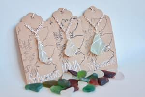 Scottish sea glass necklace travel jewelry jewelry for travelers travel themed jewelry jewellery for travellers