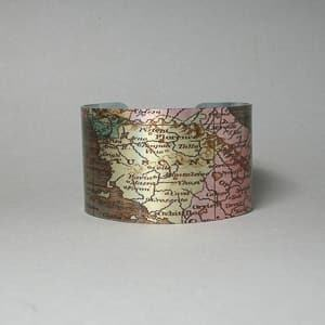Tuscany aluminum bracelet travel jewelry jewelry for travelers travel themed jewelry jewellery for travellers