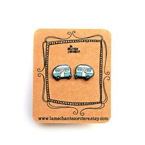 campervan earrings travel jewelry jewelry for travelers travel themed jewelry jewellery for travellers