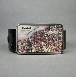 cleveland belt buckle travel jewelry jewelry for travelers travel themed jewelry jewellery for travellers