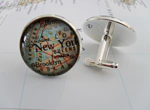 custom map cufflinks travel jewelry jewelry for travelers travel themed jewelry jewellery for travellers