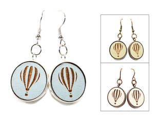 hot air balloon earrings travel jewelry jewelry for travelers travel themed jewelry jewellery for travellers