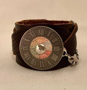 leather cuff travel jewelry jewelry for travelers travel themed jewelry jewellery for travellers