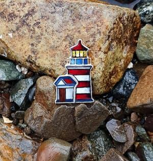 lighthouse brooch travel jewelry jewelry for travelers travel themed jewelry jewellery for travellers