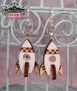 rocket ship earrings travel jewelry jewelry for travelers travel themed jewelry jewellery for travellers