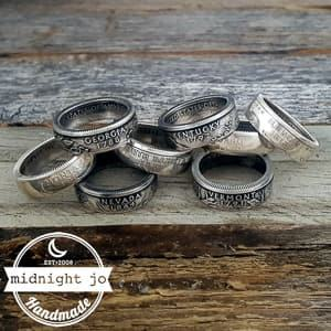state coin rings travel jewelry jewelry for travelers travel themed jewelry jewellery for travellers