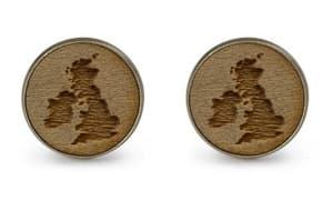 british isles outline cufflinks travel jewelry jewelry for travelers travel themed jewelry jewellery for travellers