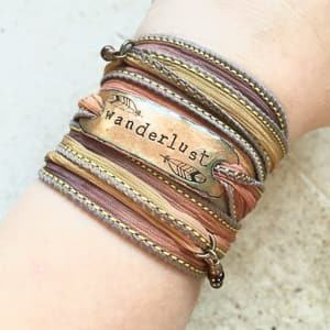 wanderlust wrap bracelet travel jewelry jewelry for travelers travel themed jewelry jewellery for travellers