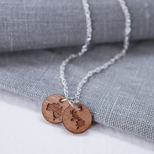 1d5b30bd3 wooden country necklace travel jewelry jewelry for travelers travel themed  jewelry jewellery for travellers