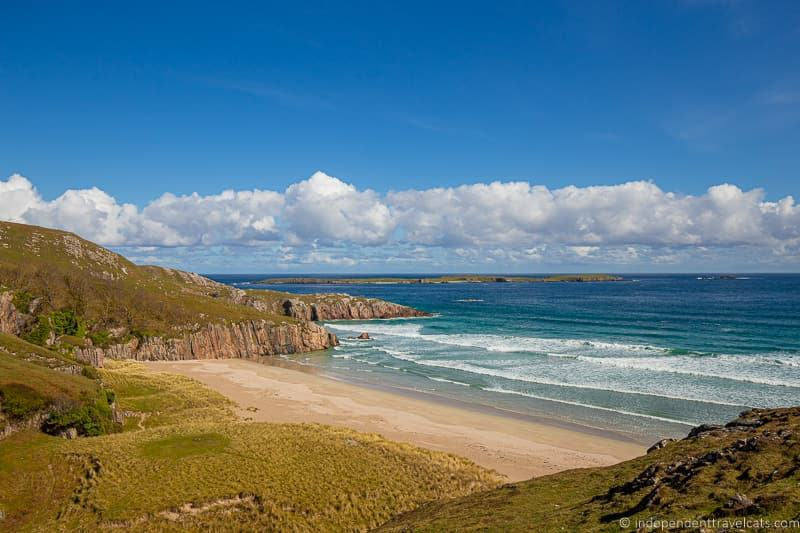 Ceannabeinne Beach 7 day North Coast 500 road trip itinerary Scotland