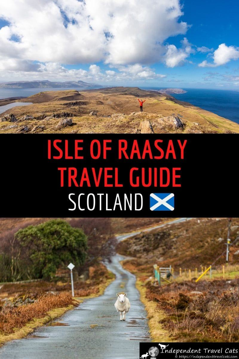 A detailed travel guide to visiting the Isle of Raasay in Scotland and the top things do on Raasay. We share how to get to the Isle of Raasay, how to get around Raasay, where to stay on Raasay, where to eat, and the top things to do and see on the island. We'll also share our own experience and tips for visiting Raasay. #Raasay #IsleoofRaasay #Scottishislands #Hebrides #Scotland #travel #InnerHebrides #IsleofSkye