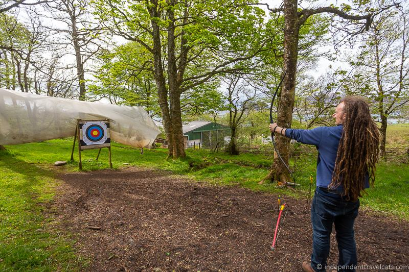 archery Isle of Raasay travel guide things to do on the Isle of Raasay