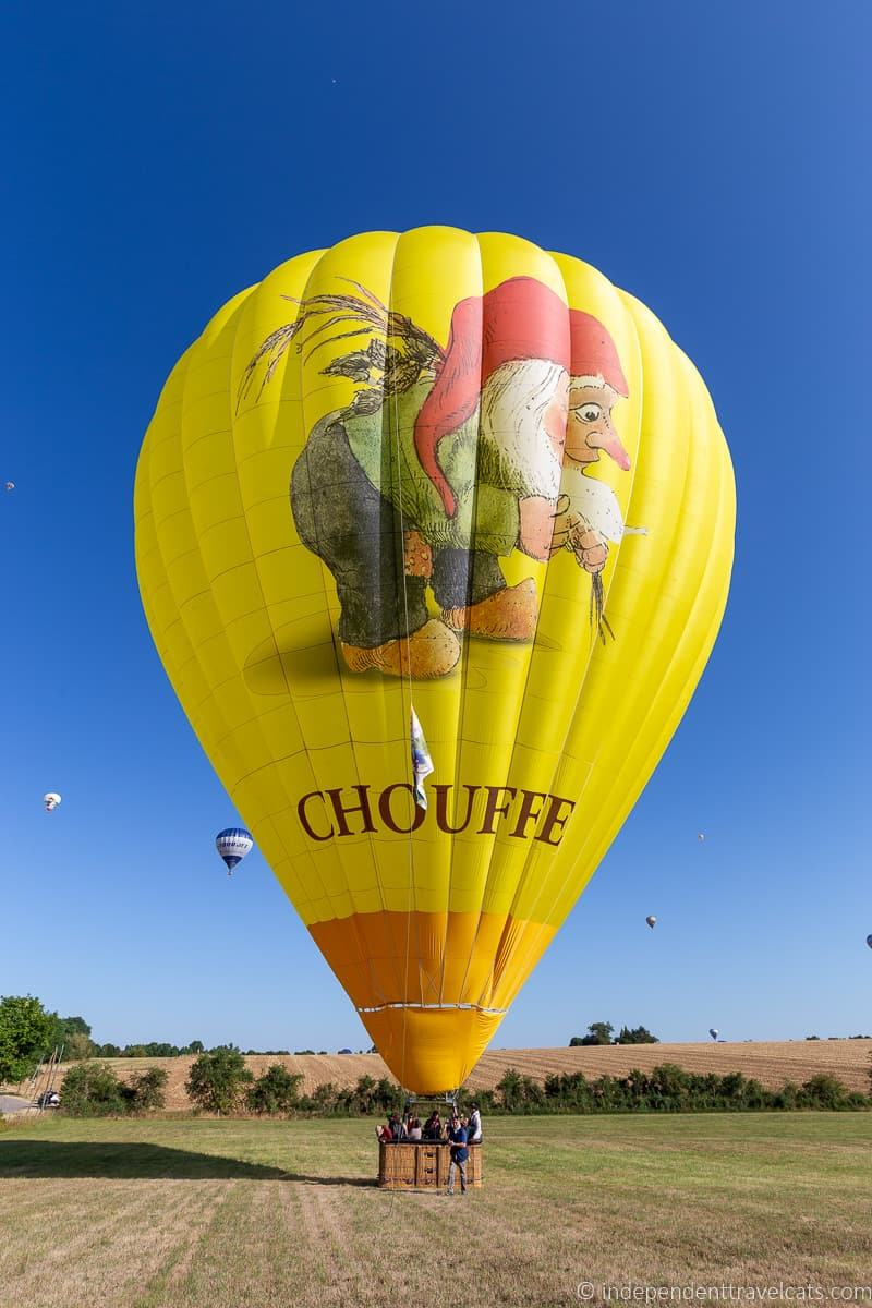 Chouffe beer gnome balloon Grand Est Mondial Air Balloons hot air balloon festival France