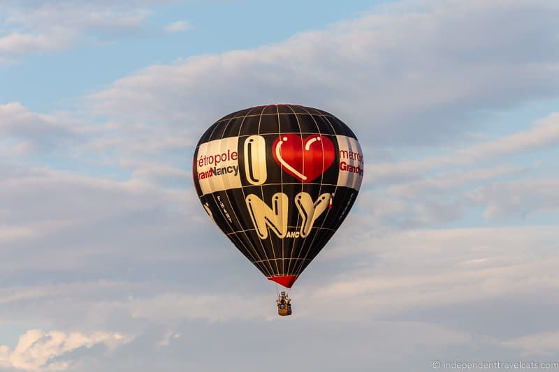 Nancy hot air balloon Grand Est Mondial Air Balloons hot air balloon festival France