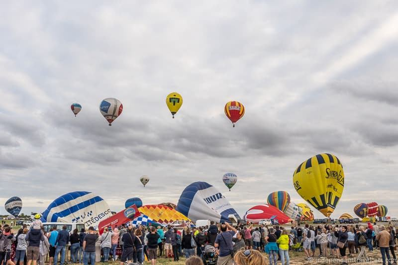 public viewing area crowd Grand Est Mondial Air Balloons hot air balloon festival France