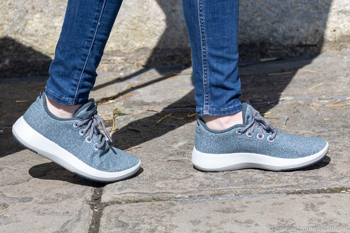 best sneakers for travel women travel shoes Allbirds wool runner mizzle