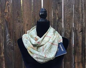 travel scarf made in the USA hidden pocket scarf for traveling