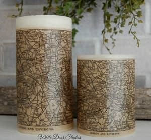 map candle travel themed wedding destination wedding