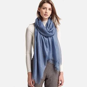 Women Ladies Winter Soft Scarf Outdoor With Hidden Zip Pocket Fashion UK STOCK