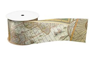 map ribbon travel themed wedding destination wedding