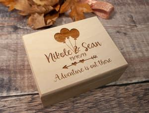 Up inspired ring box travel themed wedding destination wedding