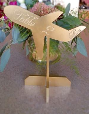 airplane table numbers travel themed wedding destination wedding